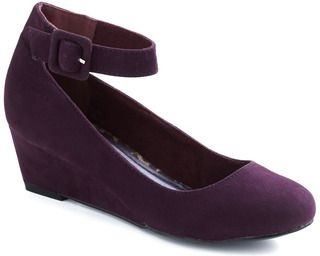 Modcloth Plum as You Are Wedge - 8 Stylish Low-Heel Shoes You Can…