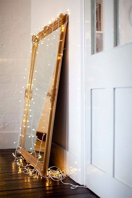 Mirror Glam 7 Ways To Use Christmas Lights All Year