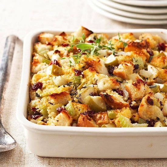 Via Cranberry-Apple Corn Bread Stuffing