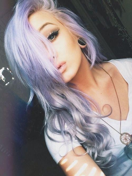 24. Silver, Purple, & Blue - 43 Girls Rocking Pastel Hair ... → 💇…