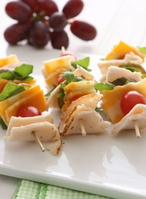 Turkey and Cheese Skewers