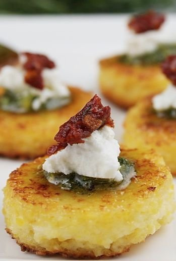 Sundried Tomato Polenta Bites - 32 Polenta Recipes to Shake up…