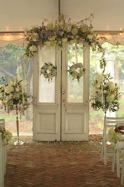Flower Festooned Doors