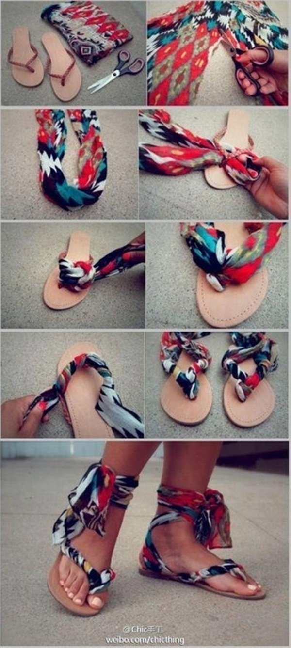 DIY Fabric Slippers for Summer