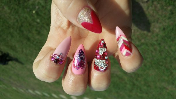 nail,finger,pink,nail care,green,