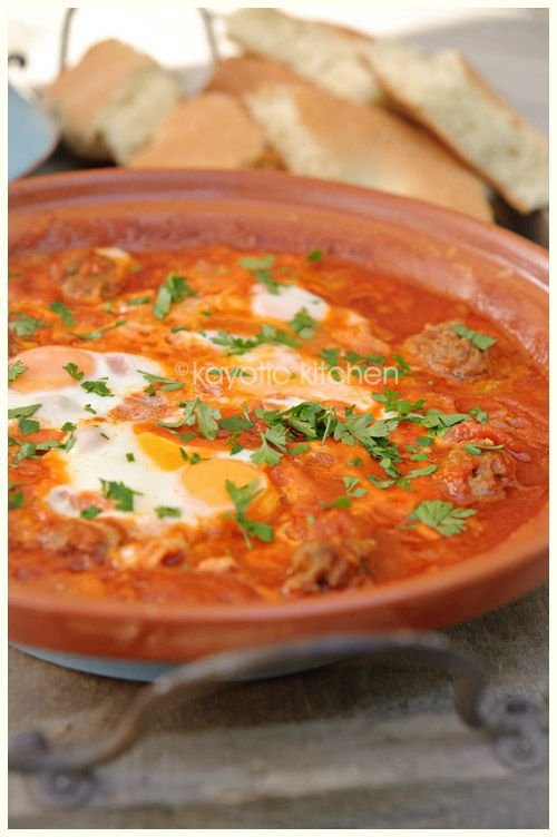 Moroccan Beef Meatball Tagine Recipe — Dishmaps