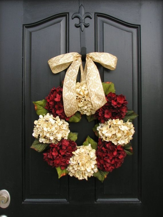 fresh flower christmas wreath