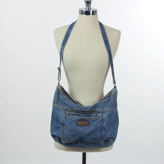Vintage Denim Bag Boho Bag