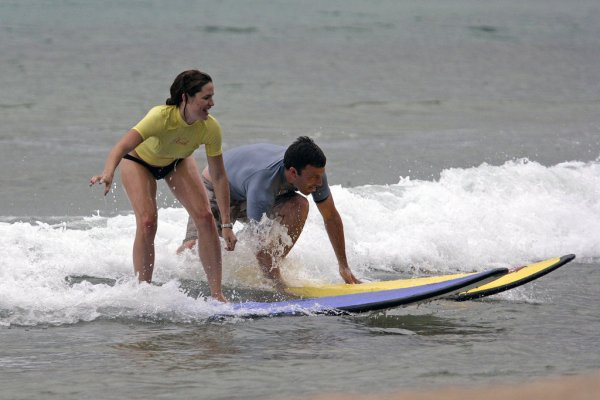 The Couple That Surfs Together…