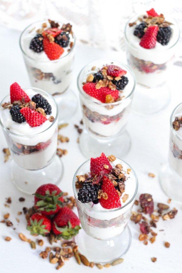 Greek Yogurt with Berries and Seeds