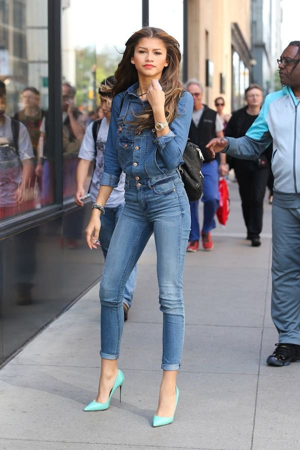 Zendaya's Fitted Overalls