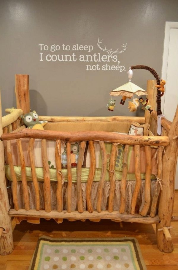 Rustic built 18 lovely baby cribs for your little one for Baby crib decoration