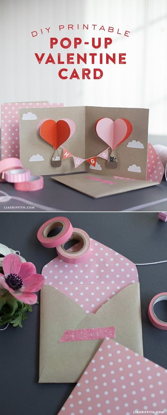 Valentine pop up card 23 adorable things to make for your - Geburtstagskarte pop up ...