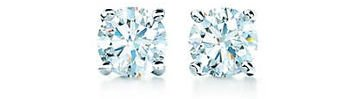 Tiffany Solitaire Diamond Earrings in Platinum