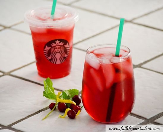 Homemade Starbucks Passion Iced Tea with Lemonade