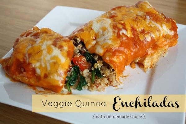 Veggie Quinoa Enchiladas