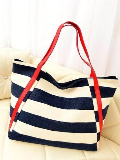 Stylish Nautical Inspired Stripes Bag