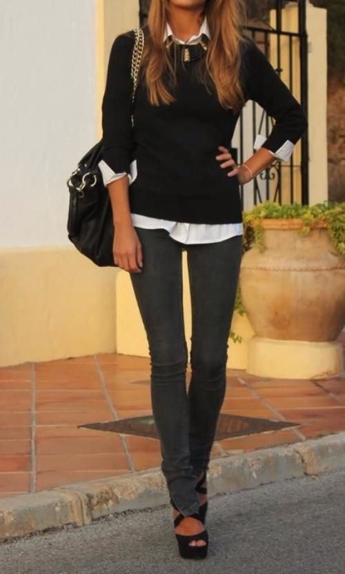 43 another casual look 44 professional and for Black shirt business casual