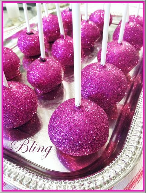 Decorating Cake Pops With Glitter : Glitter Cake Pops - Feed That Girl: Pink Food That Looks as?