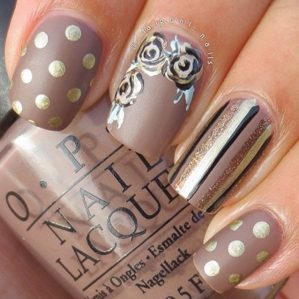 Sophisticated Shine. nail ... - Sophisticated Nail Art For When You Need To Look Amazing …