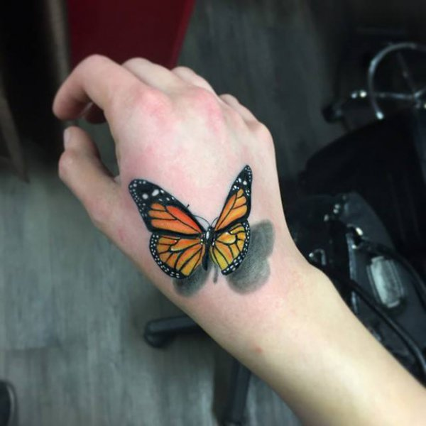 tattoo, butterfly, arm, insect, moths and butterflies,