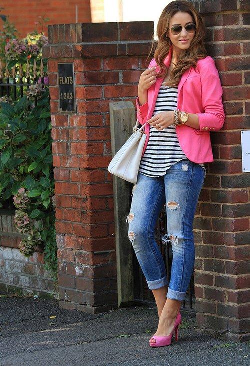 Stripes and Fuchsia