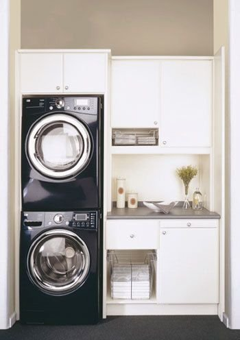 stacked washer and dryer here 39 s what your laundry room