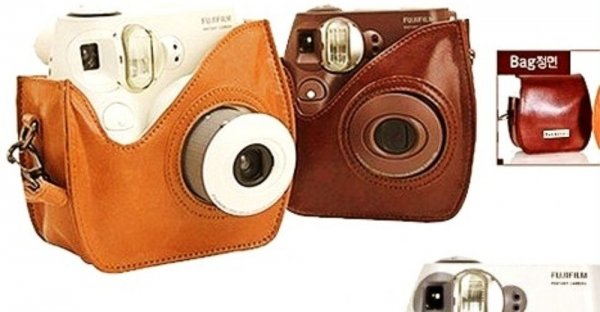 Housse etui cuir sac appareil photo polaroid de fuji for Housse instax mini