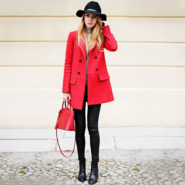 clothing, red, pink, coat, outerwear,