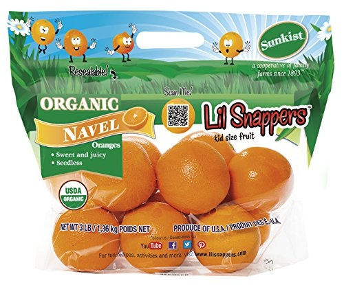 Lil Snappers, Sunkist Growers, Incorporated, Organic certification, food, plant,