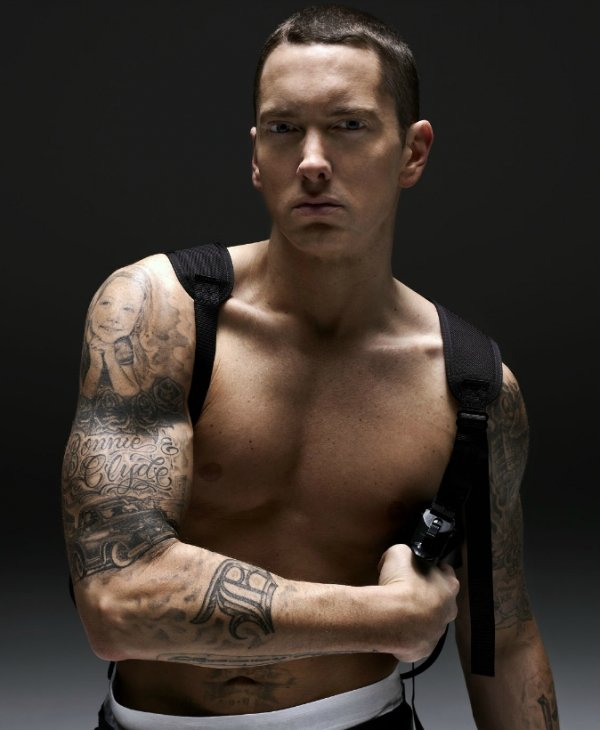 Eminem - 9 Hot Celebs with Tattoos Who Look Great ...