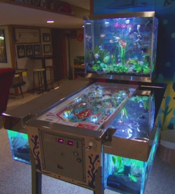 Repurposed pinball machine 28 everyday items turned into for How to clean an old fish tank