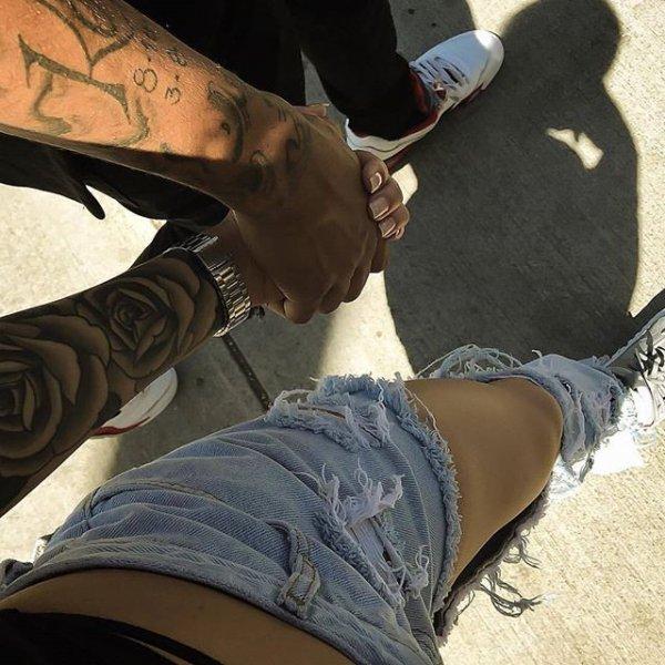 person, clothing, arm, tattoo, leg,