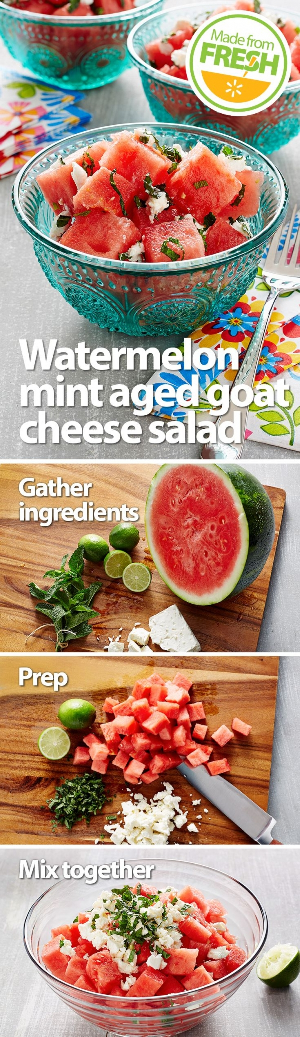 Watermelon, Mint & Goat Cheese Salad