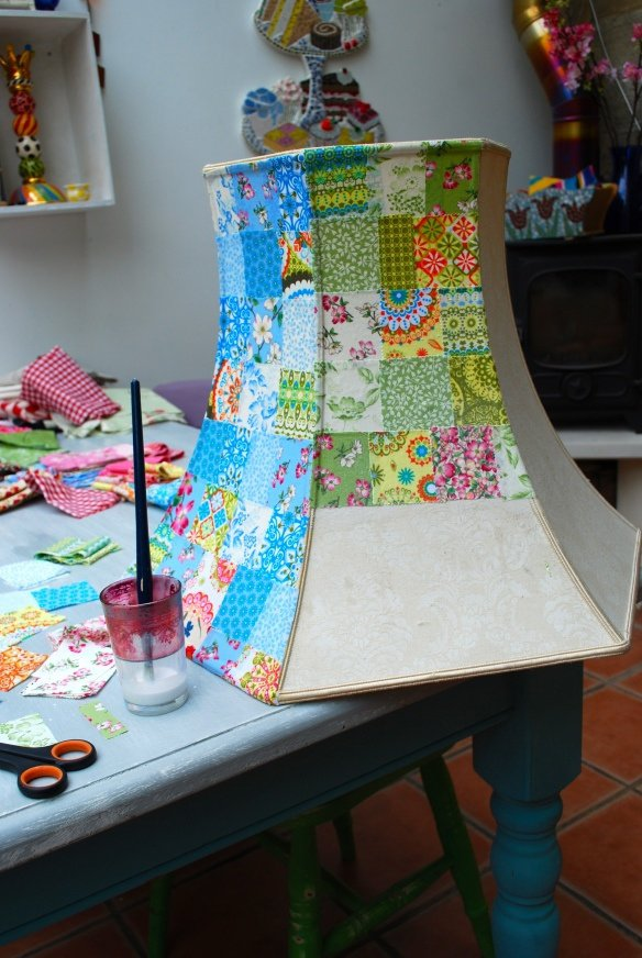 Patchwork lampshade 22 diy lampshades you can make at Make your own shade house