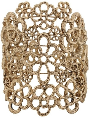 Foreve21 Cutout Floral Cuff