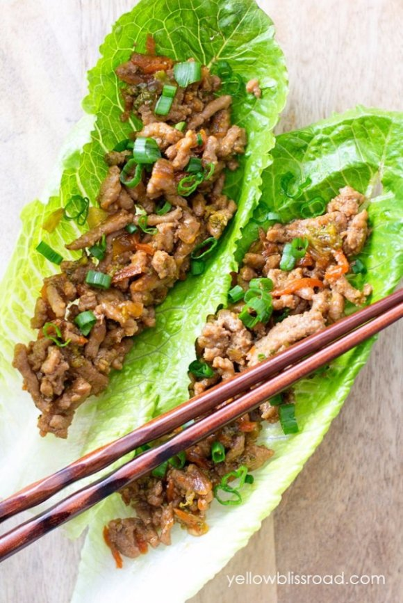 Turkey Teriyaki Lettuce Wraps