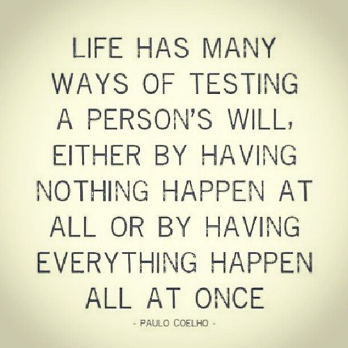 Life Tests Us All