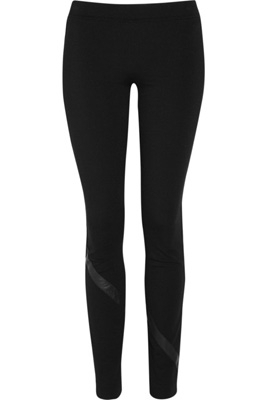 DKNY Jersey and Leather Leggings