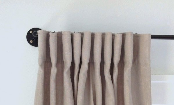 Galvanized Pipe 7 Curtain Rods That Are Easy To Make And Easy On