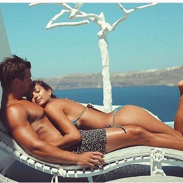 sun tanning, muscle, leg, interaction, swimwear,