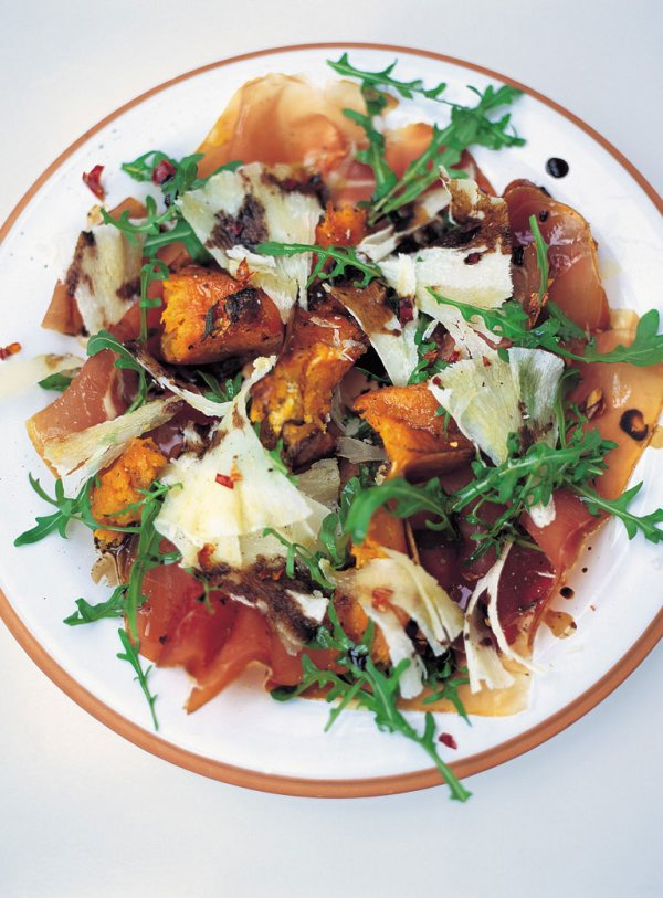 Warm Salad of Roasted Squash, Prosciutto & Pecorino Jamie Oliver Food Jamie Oliver (UK)