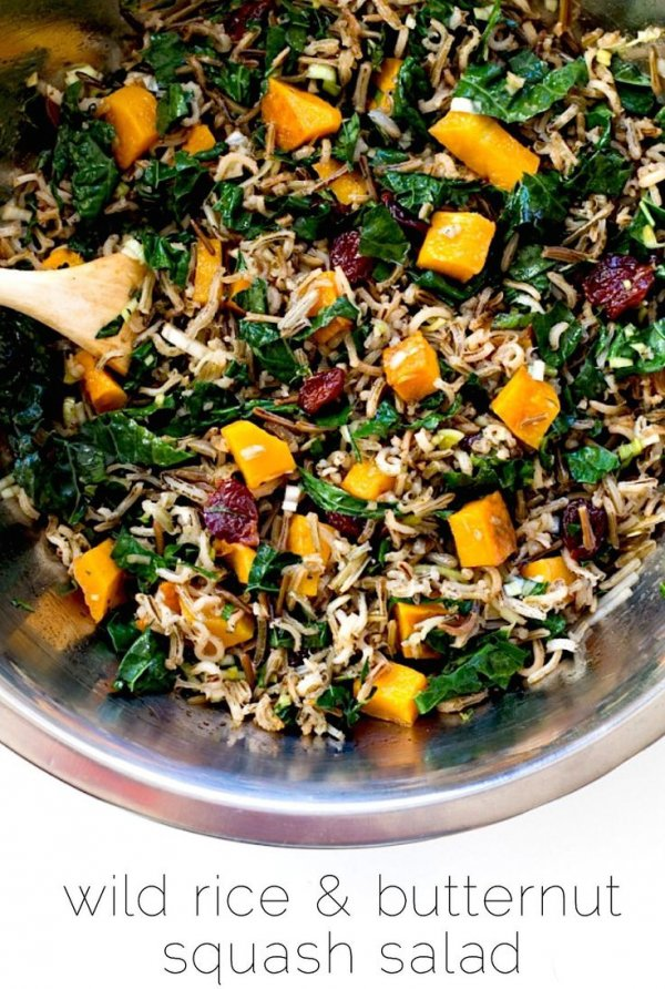 13. Wild Rice and Butternut Squash Salad with Maple Dressing - These ...