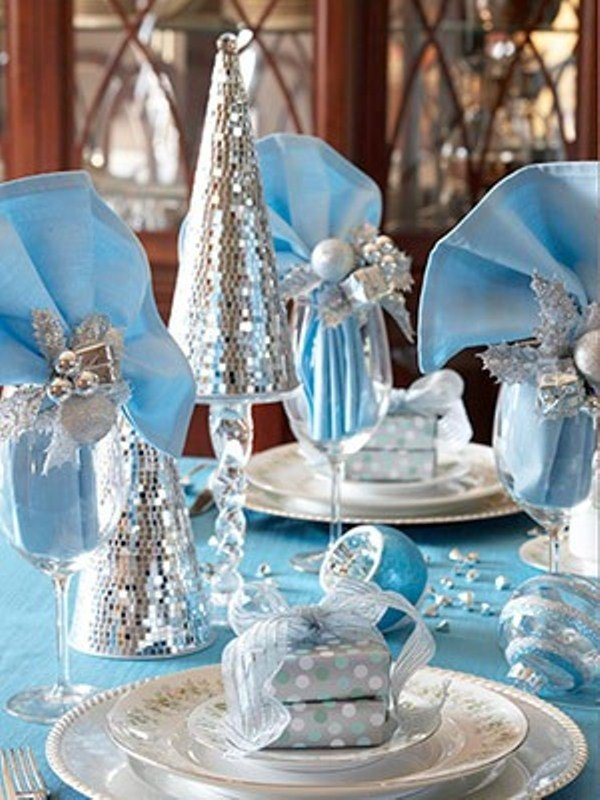 Ice Blue White Silver
