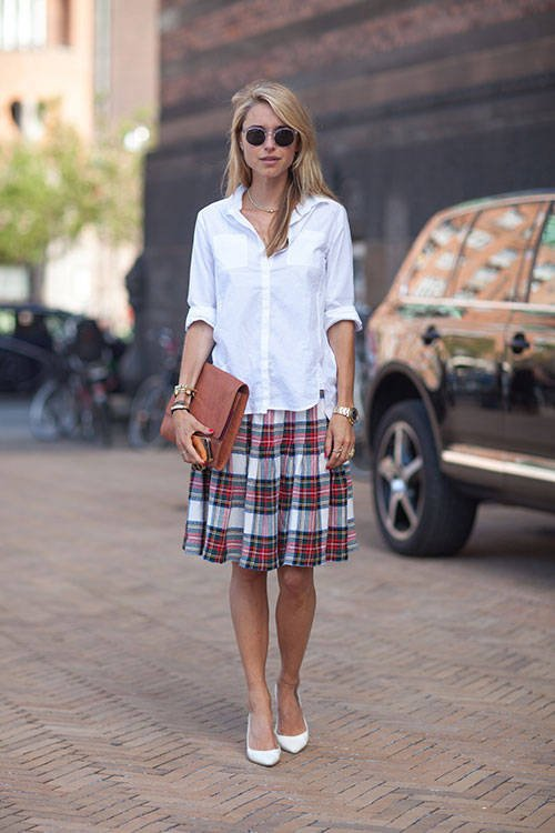 With a Plaid Skirt