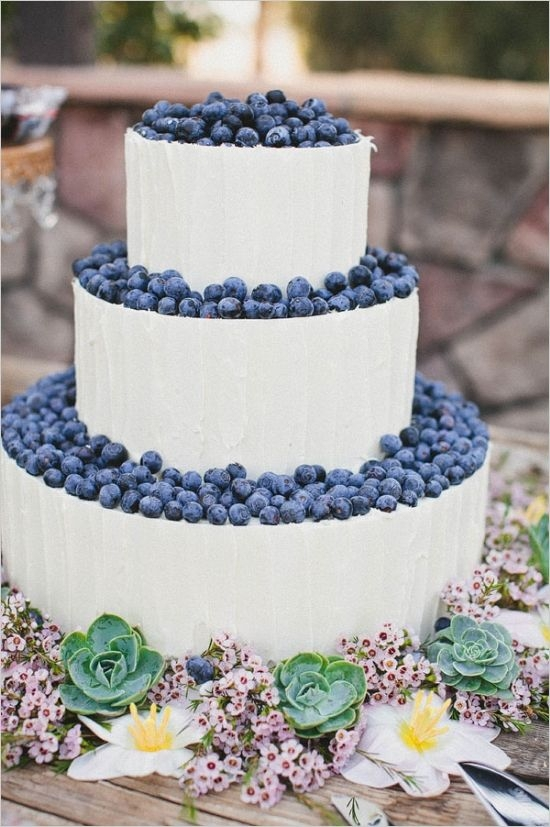 It's Not Everyday You See Fruit on a Wedding Cake