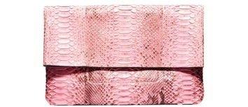 Michael Kors Janey Python Clutch - Pink Foldover Bag - 43 Bags,…