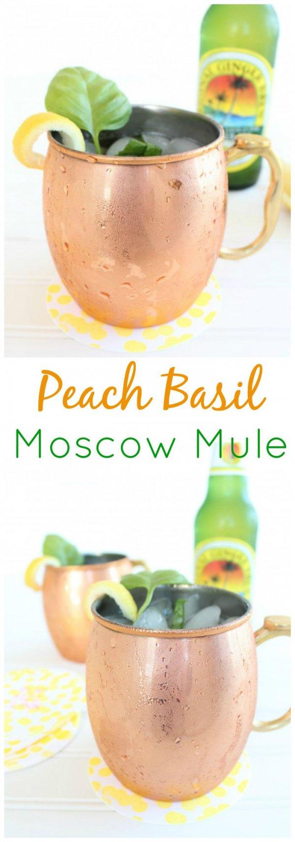 Peach Basil Moscow Mule