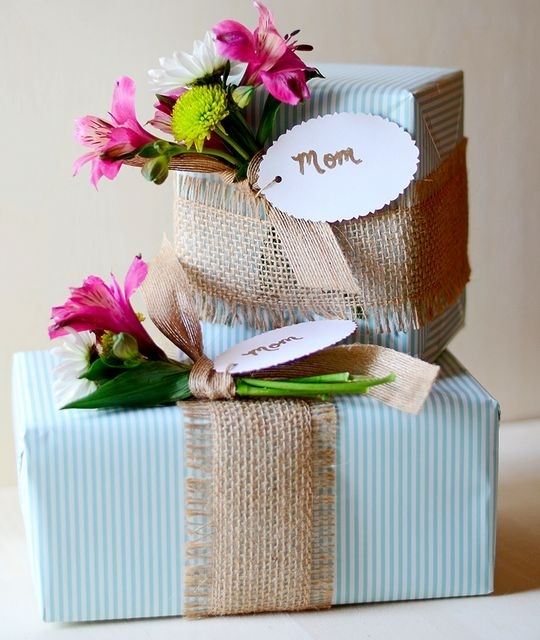 Burlap and Flowers