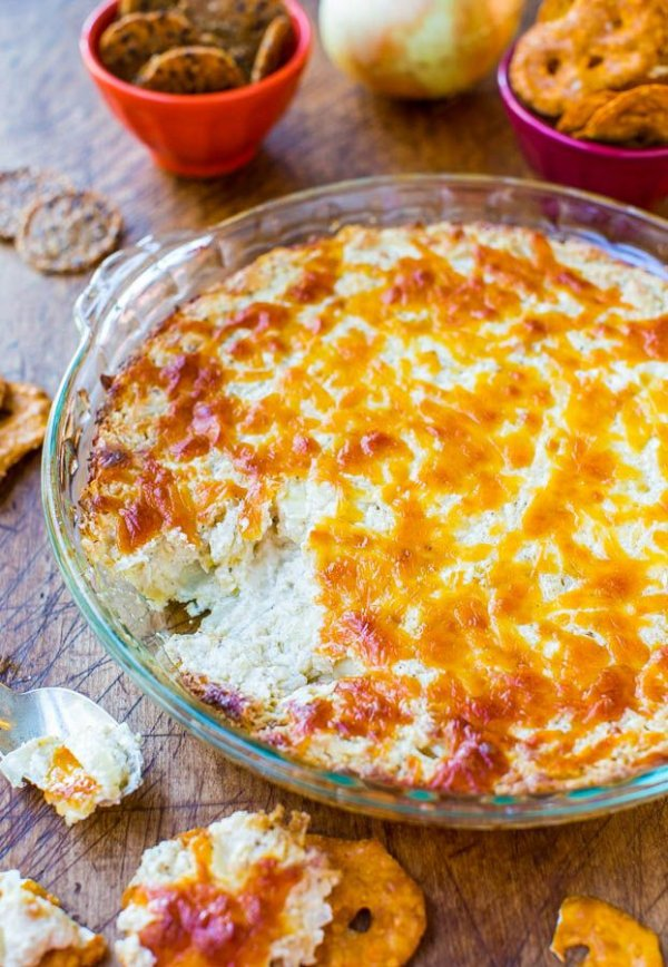 Creamy Baked Double Cheese and Sweet Onion Dip - 29 Cheesy Dip…